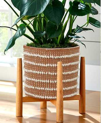 Rust Cotton Woven Basket